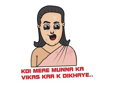 Sonia Gandhi Sticker Design