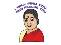 Sushma Swaraj Sticker Design