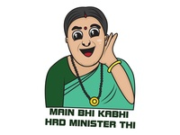 Smriti Irani Sticker Design