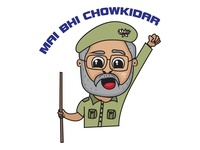 Narendra Modi Sticker Design