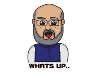 Amit Shah Sticker Design