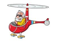 Narendra Modi In Helicopter - Sticker Design
