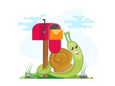 Snail Character_ Contact Us