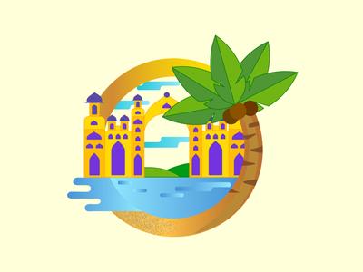 Gulf Hotel Illustration