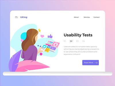 Usability Tests ux usability testing illustration vector ui