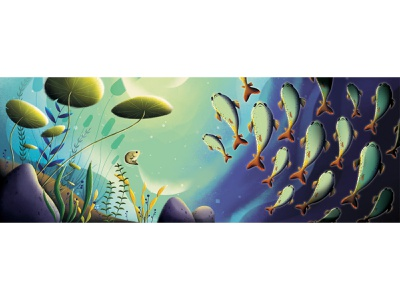 for childrens book plant under the sea childrens sea childrens book art childrens illustration digitalart fish childrens book background painting conceptart drawing artwork design art illustration