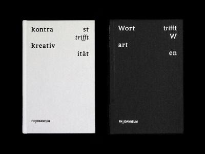 Kontrast trifft Kreativität trifft Wort trifft Warten layout grid cover typedesign book creativity contrast editorial typography bookdesign