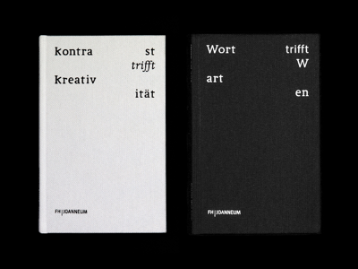Kontrast trifft Kreativität trifft Wort trifft Warten layout grid cover typedesign book creativity contrast editorial typography bookdesign