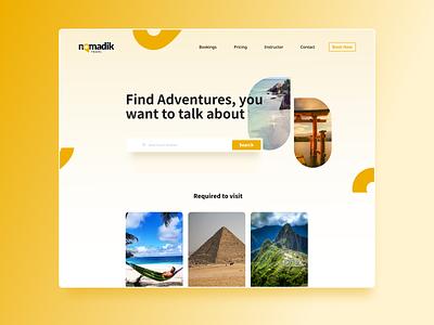 Tourist Agency -Concept Design clean modern pictures agency tourist ux logo branding ui