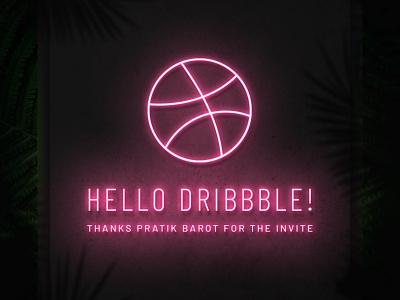 Hello Dribbble! unsplash fluro hello hellodribbble photomanipulation neon photoshop hello dribbble