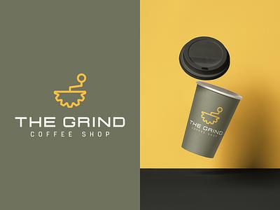 The Grind Logo Identity 2/30 coffee type thirtylogoschallenge thirtylogos grind logo icon graphicdesign branding design branding