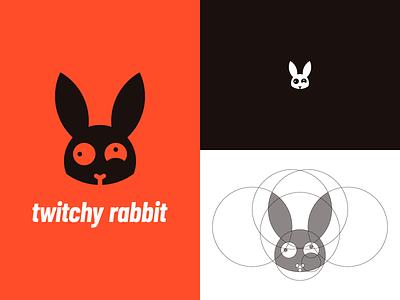 Twitch Rabbit Logo Identity 3/30 grid twitchyrabbit graphicdesign thirty logos challenge type thirtylogoschallenge thirtylogos logo icon design