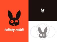 Twitch Rabbit Logo Identity 3/30