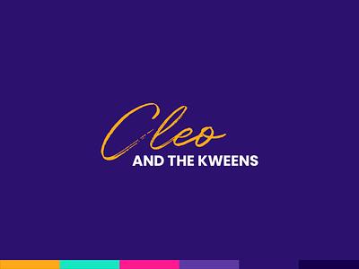 Cleo and the Kweens comedy cleo purple queer lgbt kweens logo brand