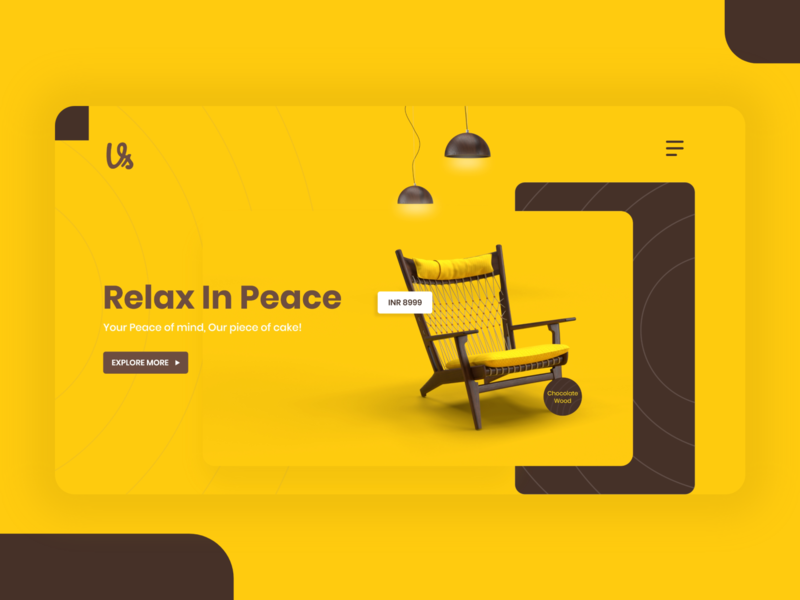 Furniture App | Landing Page sofa chair interior design webdesign website platform product decoration interior uiux branding ecommerce furniture furniture app 3d web design landing page ux ui