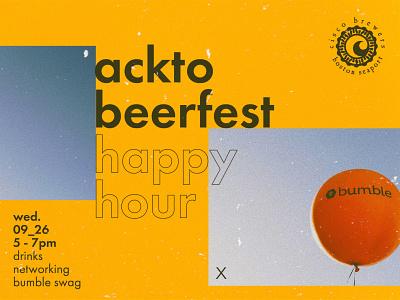 Acktobeerfest   Promotional Design event flyer bumble ad design promotional design advertising graphic design