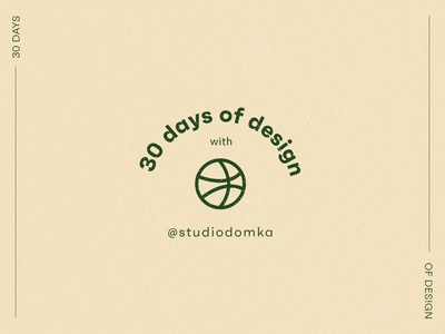 30 Days of Design with Dribbble