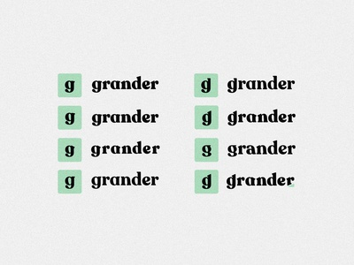 Grander Rebrand | Primary Logo Iterations