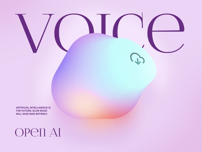 Voice in the cloud glow uiux artificial intelligence voice command voice neo-skeuomorphism neomorphism neumorphic neumorphism