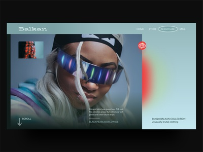 Balkan landing page adobe xd nigeria naija david ofiare shopping fashion futurist sci-fi brutalism ecommerce shop landing page web design