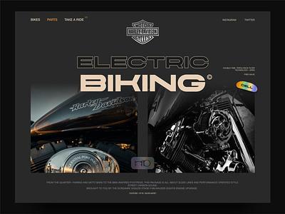 Harley davidson concept nigeria xd brutalism ux ui motorbike biking website david ofiare