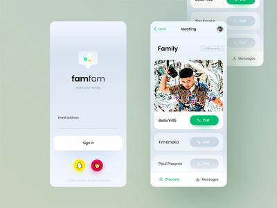 Famfam social adobe xd nigeria david ofiare uiux mobile ui social app web design interaction design