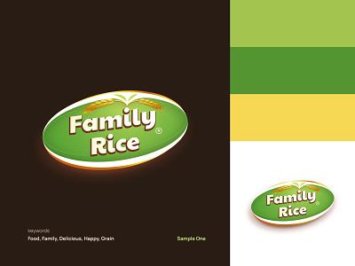 Family rice logo adobe illustrator illustration brand identity app logo design branding david ofiare
