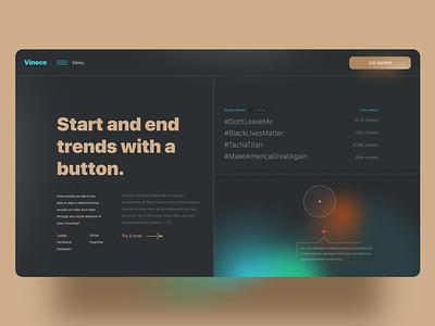 Glowing beaut digital marketing adobe xd uiux web design mesh gradient nigeria david ofiare landing page viral trends viral marketing
