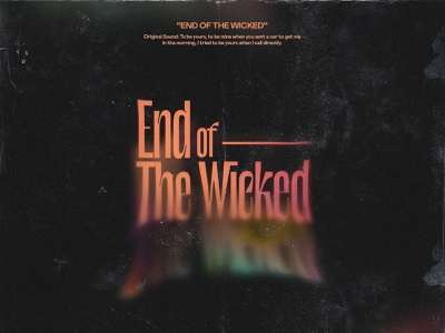 End Of The Wicked orange frame distortion rock dark design music adobe photoshop nigeria david ofiare