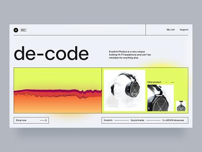 Erzetich Phobos homepage blur david ofiare naija nigeria website landing page uidesign ux web design sound wave headphones business
