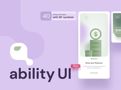 Ability UI Kit other screens adobe xd mobile app android artificialintelligence finance crypto payment darkmode shopping glassmorphism david ofiare