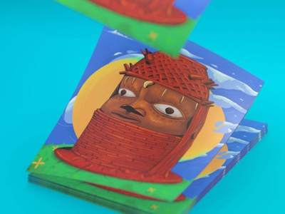 The Oba of Benin Prints adobe photoshop cartoon digital art art david ofiare nigeria benin bini arnold cinema4d poster prints