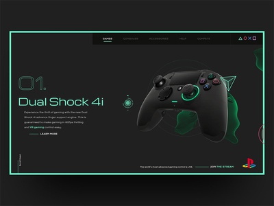 Dual Shock 4i Playstation Landing Page Desktop
