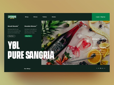 Gotzinger concept page david ofiare naija nigeria platform shop dinning food landing page