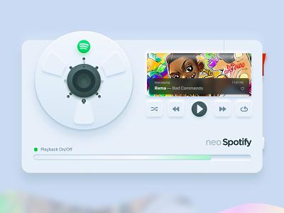 Neo Spotify Skeuomorphism (neumorphism) david ofiare nigeria music spotify product design ui design xd neo skeuomorphism skeumorphic skeuomorphism neumorphism neuomorphism