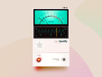Neo Spotify neumorphism bend-box adobe xd product design naija nigeria retro music spotify david ofiare neoskeuomorphism skeumorphic neumorphism