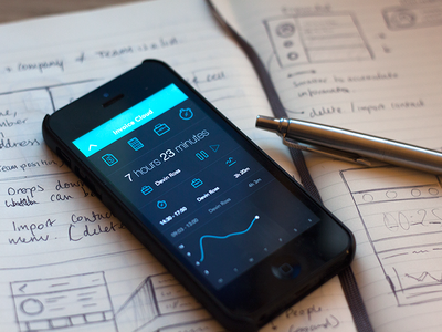 Dashboard ios 7 app ui icons icon graph timer ios sketch