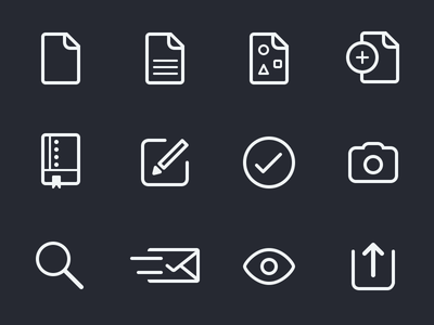 UI Icons icons documents repo compose check-mark pictures search mail send preview share