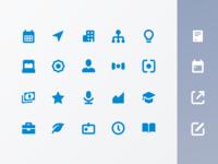 Icon set for Crunchbase