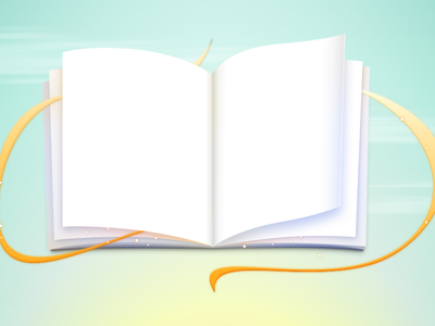 Open Book book illustration