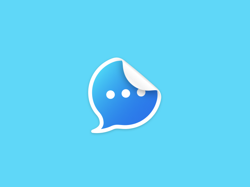 Sticker figma icon sticker chat messages