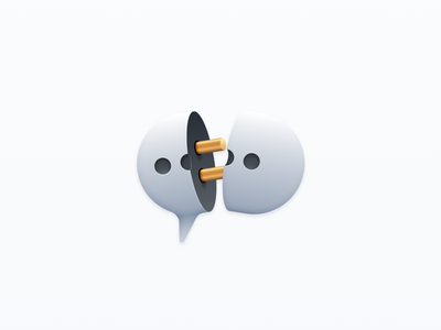 Disconnected chat messages icon plug disconnect