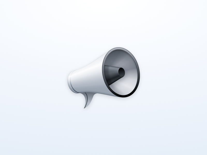 Megaphone figma icon messages chat megaphone