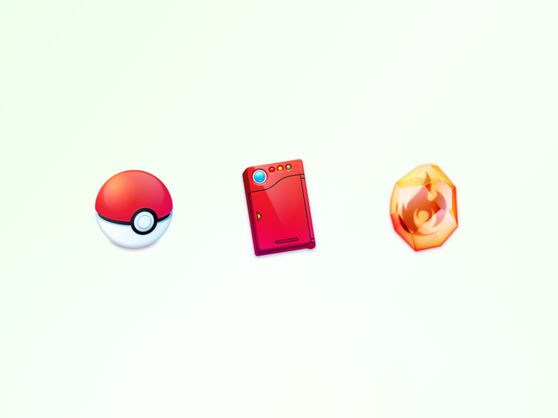 pokémon figma icons icon firestone pokedex pokeball
