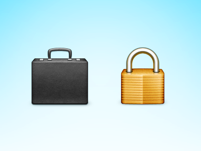 Briefcase and lock