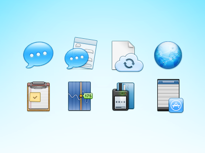 Some More 64px 64px icon icons chat icloud sync network clipboard stocks card-payment ios