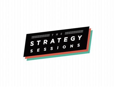 The Strategy Sessions slanted vintage angle gotham red green logo diamond strategy workshop