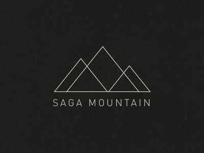 Saga Mountain Workshop mountain logo brand mark triangle thin ios7 lines