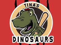Softball Dino Logo