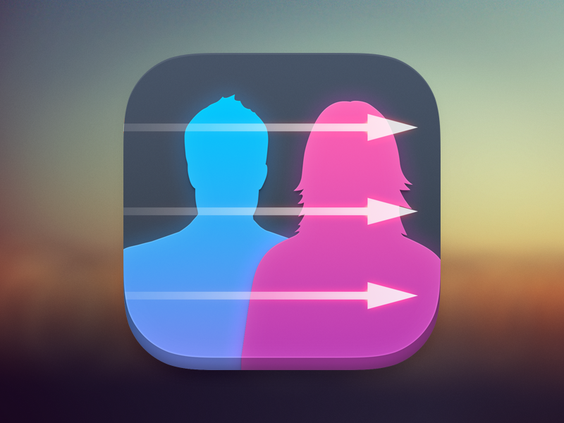 App Icon app icon ios arrows people contact mobile blurred background